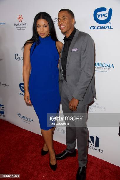 Jordin Sparks and Dana Isaiah attend the 17th Annual Harold Carole Pump Foundation Gala at The Beverly Hilton Hotel on August 11 2017 in Beverly...