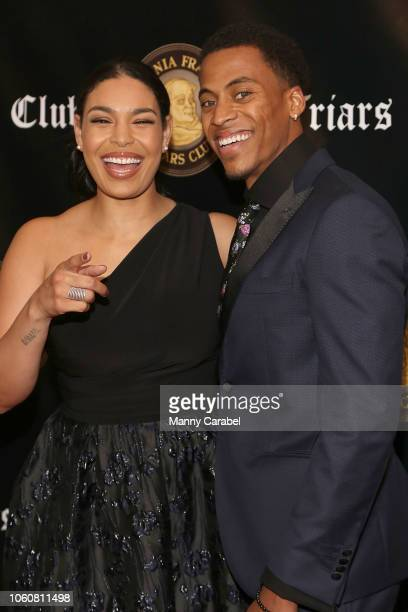 Jordin Sparks and Dana Isaiah attend the Friar's Club Honors Billy Crystal with their Entertainment Icon Award at The Ziegfeld Ballroom on November...