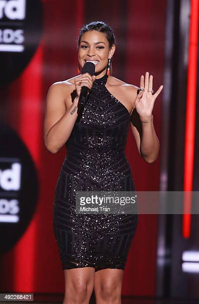 Jordin Sparks apeaks onstage during the 2014 Billboard Music Awards held at MGM Grand Garden Arena on May 18, 2014 in Las Vegas, Nevada.