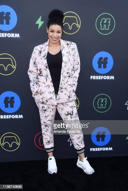 Jordin Sparks arrives at the 2nd Annual Freeform Summit at Goya Studios on March 27 2019 in Los Angeles California
