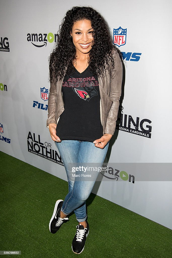 Jordin Sparks arrives at the Premiere of Amazon Video's 'All Or Nothing: A Season with the Arizona Cardinals' after party on June 9, 2016 in Los Angeles, California.