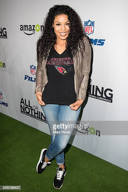 Jordin Sparks arrives at the Premiere of Amazon Video's 'All Or Nothing A Season with the Arizona Cardinals' after party on June 9 2016 in Los...