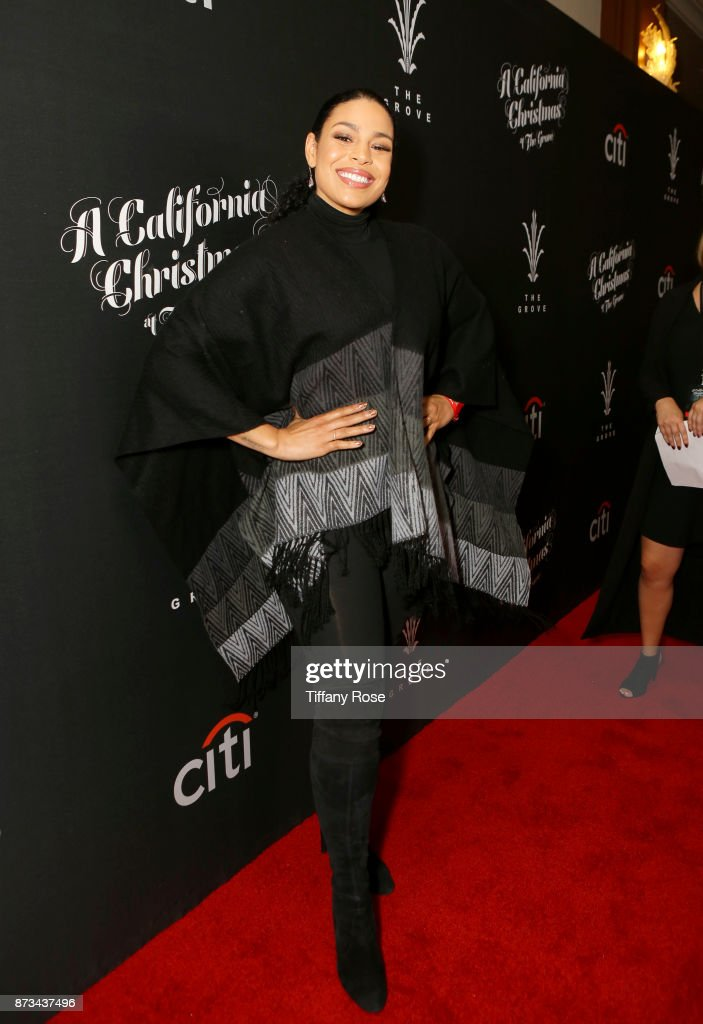 Jordin Sparks at A California Christmas at the Grove Presented by Citi on November 12, 2017 in Los Angeles, California.