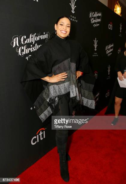 Jordin Sparks at A California Christmas at the Grove Presented by Citi on November 12 2017 in Los Angeles California