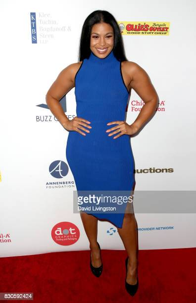 Jordin Sparks at the 17th Annual Harold Carole Pump Foundation Gala at The Beverly Hilton Hotel on August 11 2017 in Beverly Hills California
