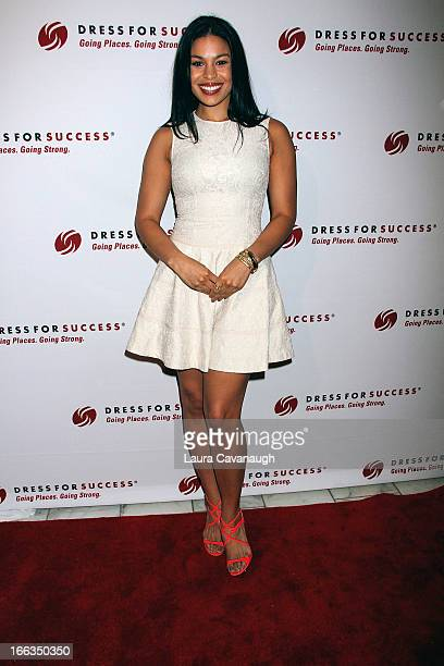 Jordin Sparks attends Dress for Success Something To Share Gala at the Grand Hyatt on April 11 2013 in New York City