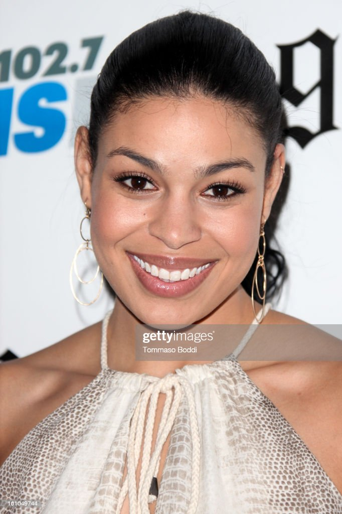 Jordin Sparks attends the 102.7 KIIS FM and Star 98.7 host 5th annual celebrity and artist lounge celebrating the 55th annual GRAMMYS at ESPN Zone At L.A. Live on February 8, 2013 in Los Angeles, California.
