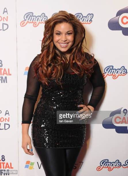Jordin Sparks attends the Capital FM Jingle Bell Ball Day 1 at the 02 Arena on December 5 2009 in London England