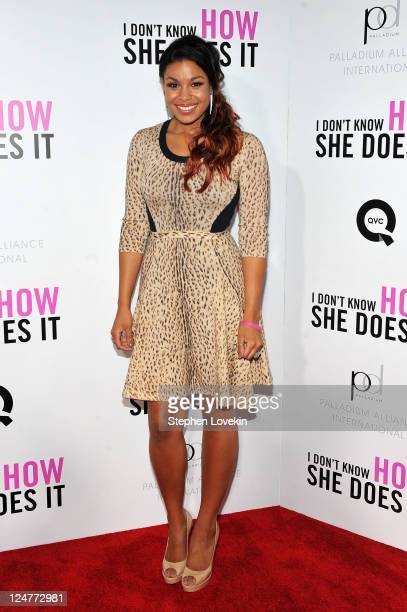 Jordin Sparks attends the premiere of The Weinstein Company's I Don't Know How She Does It sponsored by QVC Palladium Jewelry at AMC Lincoln Square...
