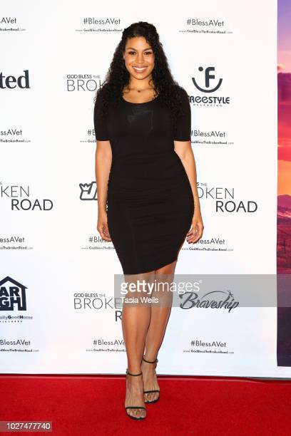 Jordin Sparks attends the screening of Entertainment Studios' 'God Bless The Broken Road' at Silver Screen Theater at the Pacific Design Center on...