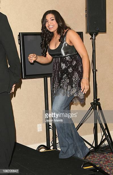 "Jordin Sparks during ""American Idol"" Season 6 Finale - Press Room at Kodak Theatre in Hollywood, California, United States."