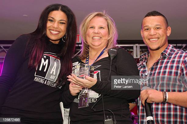 Jordin Sparks guest and PJ Sparks attend The 4th Annual Jordin Sparks Super Bowl Experience on February 2 2011 in Arlington Texas