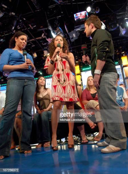 Jordin Sparks MTV VJ Susie Castillo and Blake Lewis