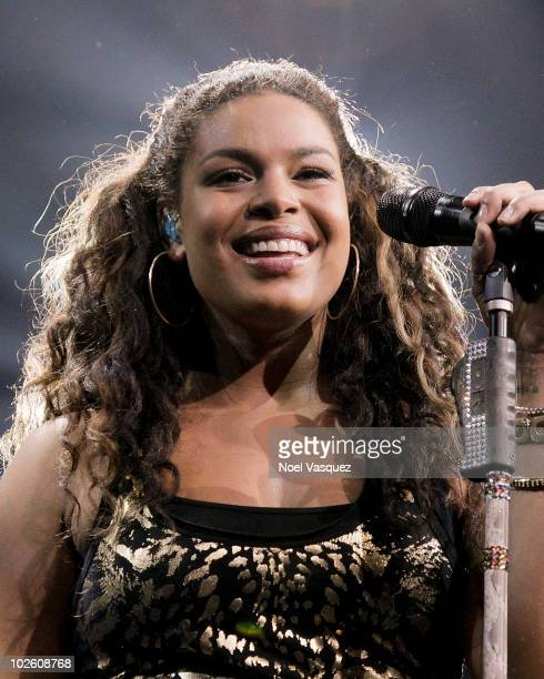 """Jordin Sparks performs at her """"Battlefield Tour"""" at the Grove of Anaheim on July 2, 2010 in Anaheim, California."""