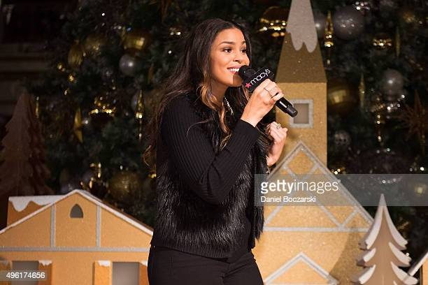 Jordin Sparks performs at Macy's Great Tree Lighting in Chicago to launch the eight annual Macy's Believe Campaign on November 7 2015 in Chicago...