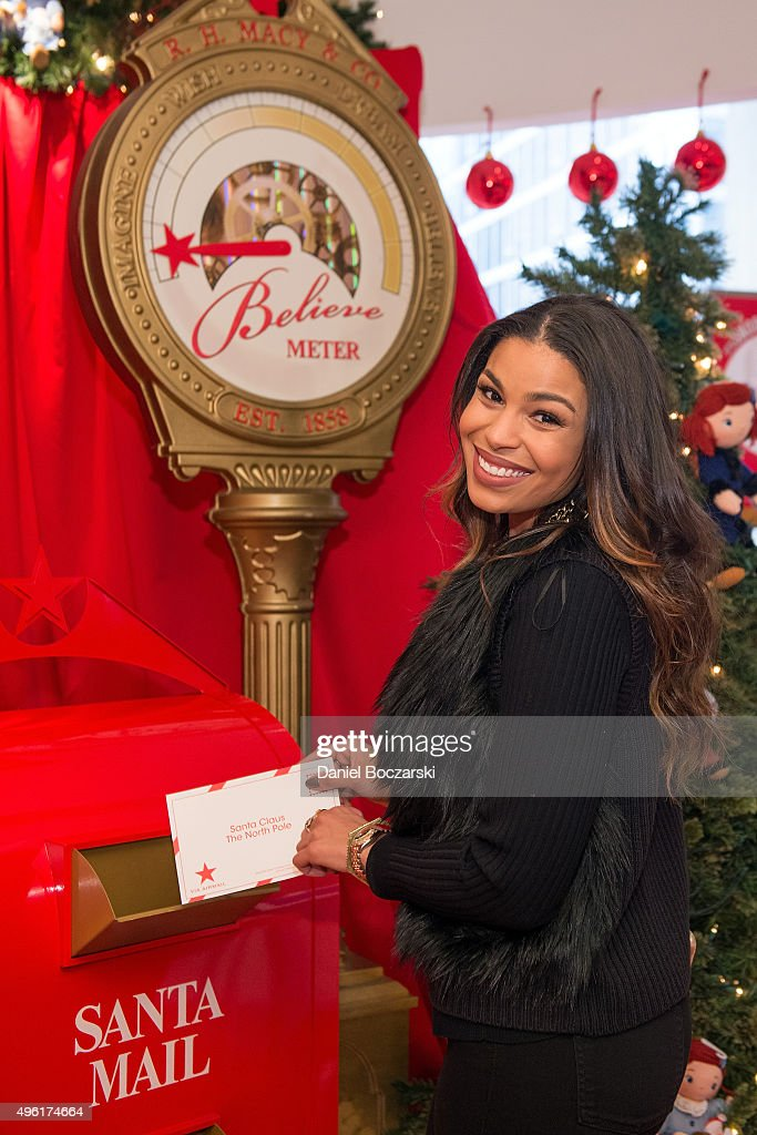 Jordin Sparks sends her letter to Santa at Macy's on State Street to kick off Macy's eighth annual Believe Campaign on November 7, 2015 in Chicago, Illinois.