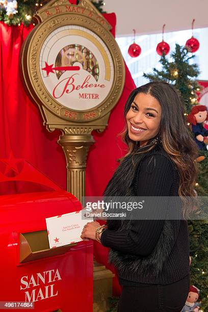 Jordin Sparks sends her letter to Santa at Macy's on State Street to kick off Macy's eighth annual Believe Campaign on November 7 2015 in Chicago...