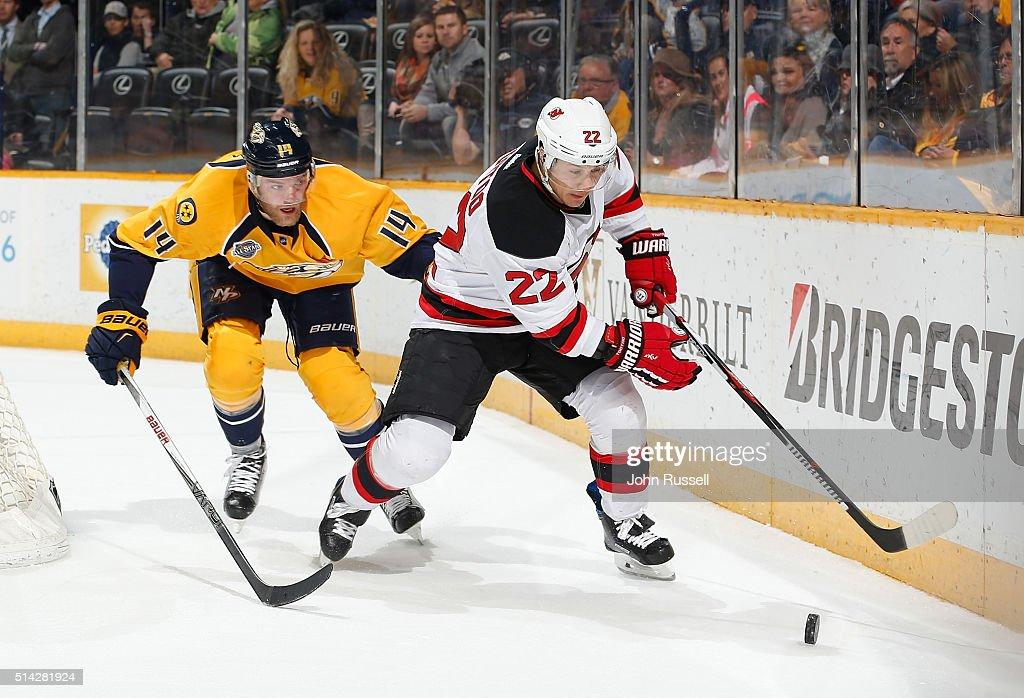 separation shoes 3af0c d7cb8 Jordin Tootoo of the New Jersey Devils skates against ...