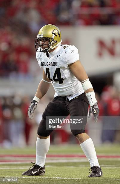 Jordon Dizon the Colorado Buffaloes stands ready on the field during the game against the Nebraska Cornhuskers on November 24 2006 at Memorial...
