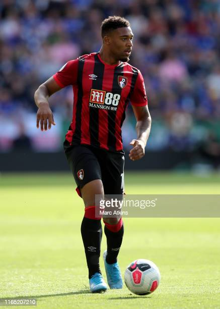 Jordon Ibe of AFC Bournemouth during the Premier League match between Leicester City and AFC Bournemouth at The King Power Stadium on August 31, 2019...