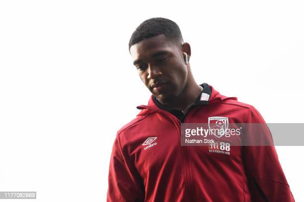 Jordon Ibe of AFC Bournemouth looks on prior to the Carabao Cup Third Round match between Burton Albion and AFC Bournemouth at Pirelli Stadium on...