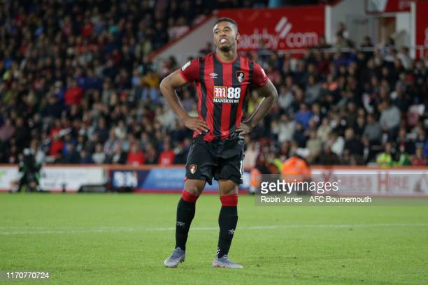 Jordon Ibe of Bournemouth after his penalty miss in penalty shoot-out during the Carabao Cup, 2nd Round match between AFC Bournemouth and Forest...
