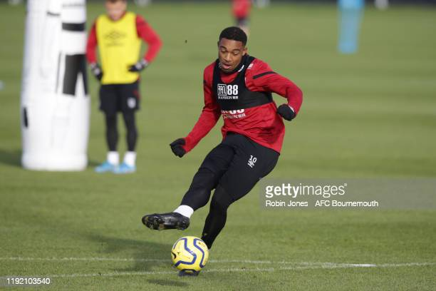 Jordon Ibe of Bournemouth during a training session at the Vitality Stadium on December 05, 2019 in Bournemouth, England.
