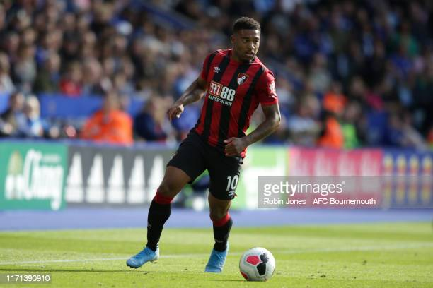 Jordon Ibe of Bournemouth during the Premier League match between Leicester City and AFC Bournemouth at The King Power Stadium on August 31, 2019 in...