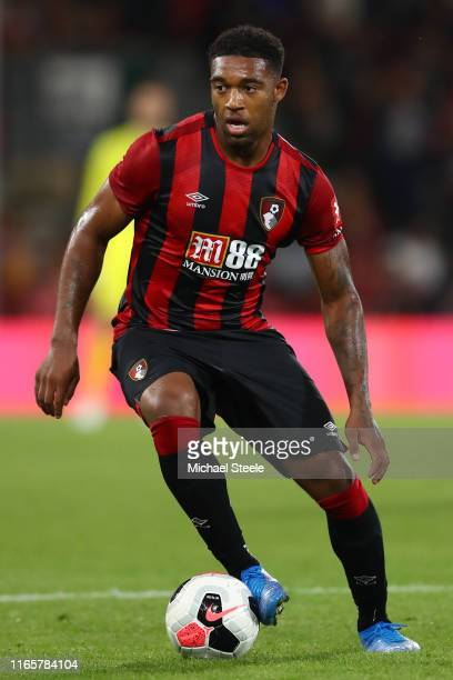 Jordon Ibe of Bournemouth during the Pre-Season Friendly match between AFC Bournemouth and SS Lazio at Vitality Stadium on August 02, 2019 in...
