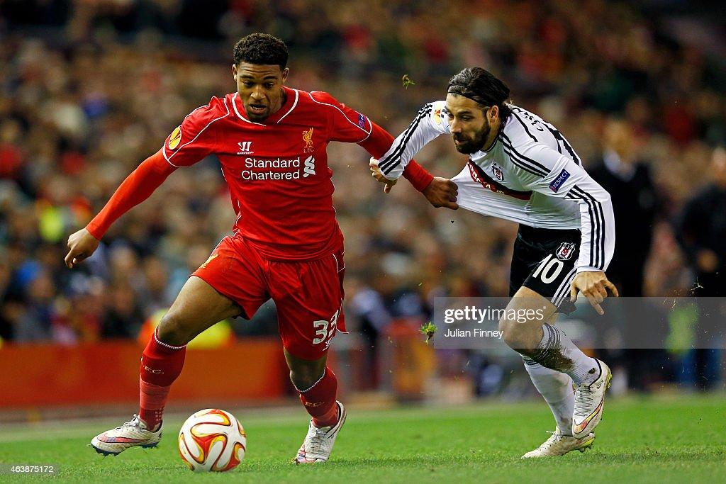 Liverpool FC v Besiktas JK - UEFA Europa League Round of 32 : Foto jornalística