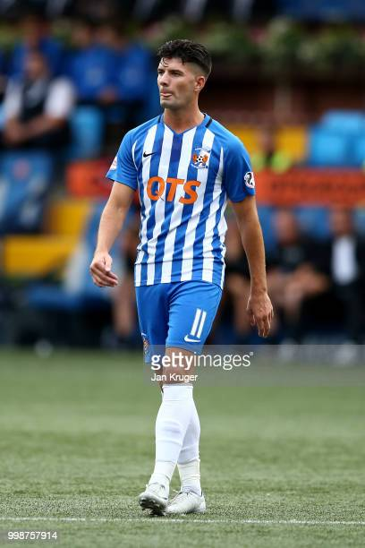Jordon Jones of Kilmarnock FC during the Betfred Scottish League Cup match between Kilmarnock and St Mirren at Rugby Park on July 13 2018 in...