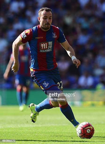 Jordon Mutch of Crystal Palace in action during the Barclays Premier League match between Crystal Palace and Aston Villa at Selhurst Park on August...