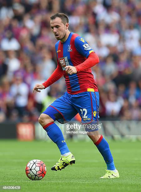 Jordon Mutch of Palace in action during the Barclays Premier League match between Crystal Palace and Arsenal on August 16 2015 in London United...