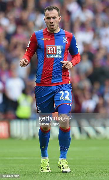 Jordon Mutch of Palace looks on during the Barclays Premier League match between Crystal Palace and Arsenal on August 16 2015 in London United Kingdom