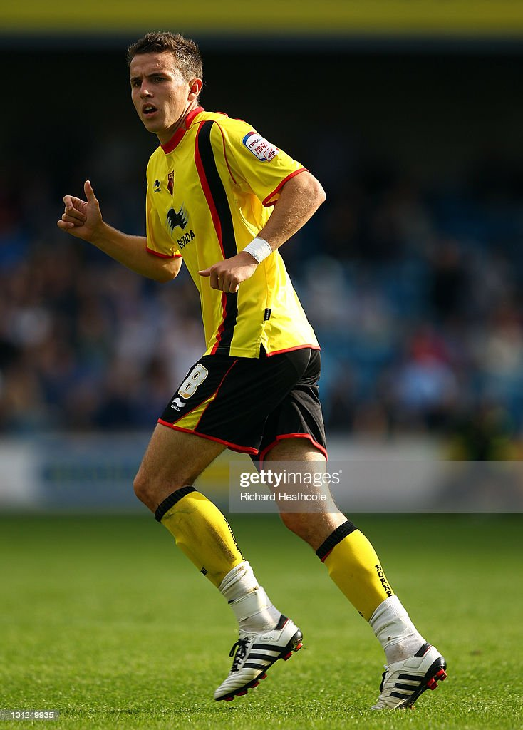 Jordon Mutch of Watford in action during the npower Championship match between Millwall and Watford at The Den on September 18, 2010 in London, England.