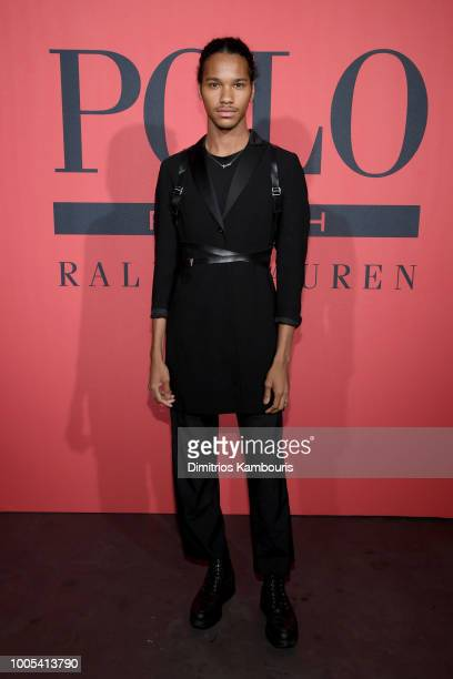 Jordun Love attends the Polo Red Rush Launch Party with Ansel Elgort at Classic Car Club Manhattan on July 25 2018 in New York City