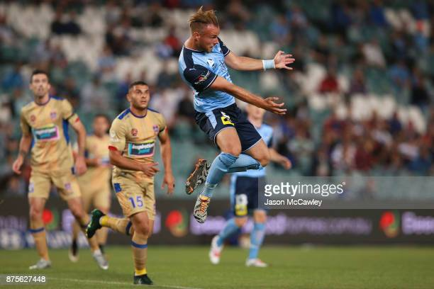 Jordy Buijs of Sydney during the round seven ALeague match between Sydney FC and Newcastle Jets at Allianz Stadium on November 18 2017 in Sydney...