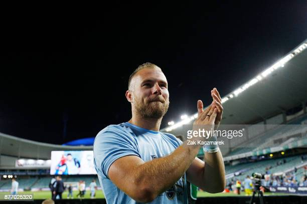 Jordy Buijs of Sydney FC celebrates after Sydney defeated Adelaide 21 during the FFA Cup Final match between Sydney FC and Adelaide United at Allianz...