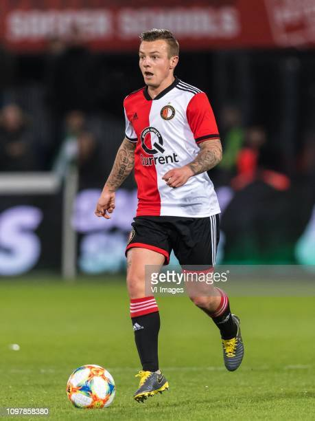 Jordy Clasie of Feyenoord during the Dutch Eredivisie match between Feyenoord Rotterdam and De Graafschap at the Kuip on February 09 2019 in...