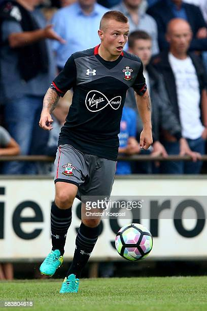 Jordy Clasieof Southampton runs with the ball during the friendly match between Twente Enschede and FC Southampton at Q20 Stadium on July 27 2016 in...