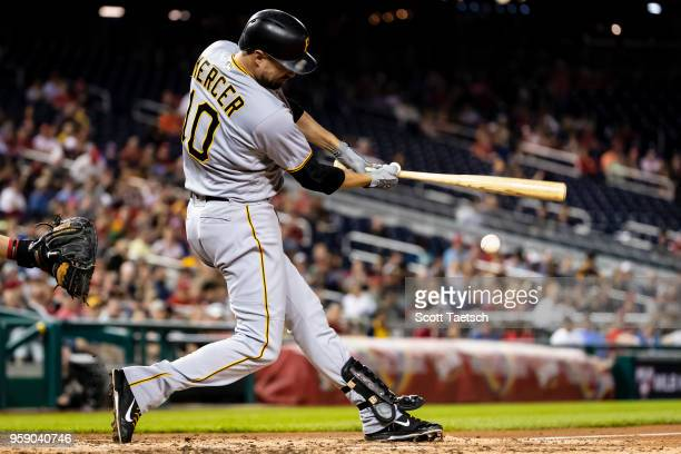 Jordy Mercer of the Pittsburgh Pirates at bat during the fifth inning against the Washington Nationals at Nationals Park on May 1 2018 in Washington...