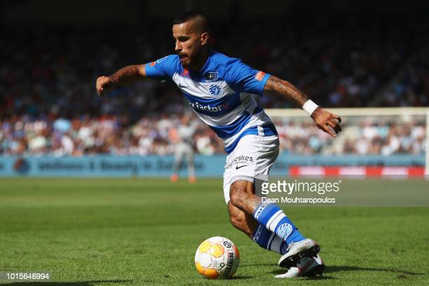 Jordy Tutuarima of De Graafschap in action during the Eredivisie match between De Graafschap and Feyenoord at Stadion De Vijverberg on August 12 2018...