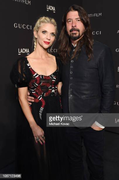Jordyn Blum and Dave Grohl attend 2018 LACMA Art Film Gala honoring Catherine Opie and Guillermo del Toro presented by Gucci at LACMA on November 3...