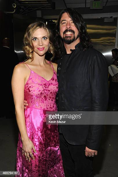 Jordyn Blum and Dave Grohl attend the 56th GRAMMY Awards at Staples Center on January 26 2014 in Los Angeles California