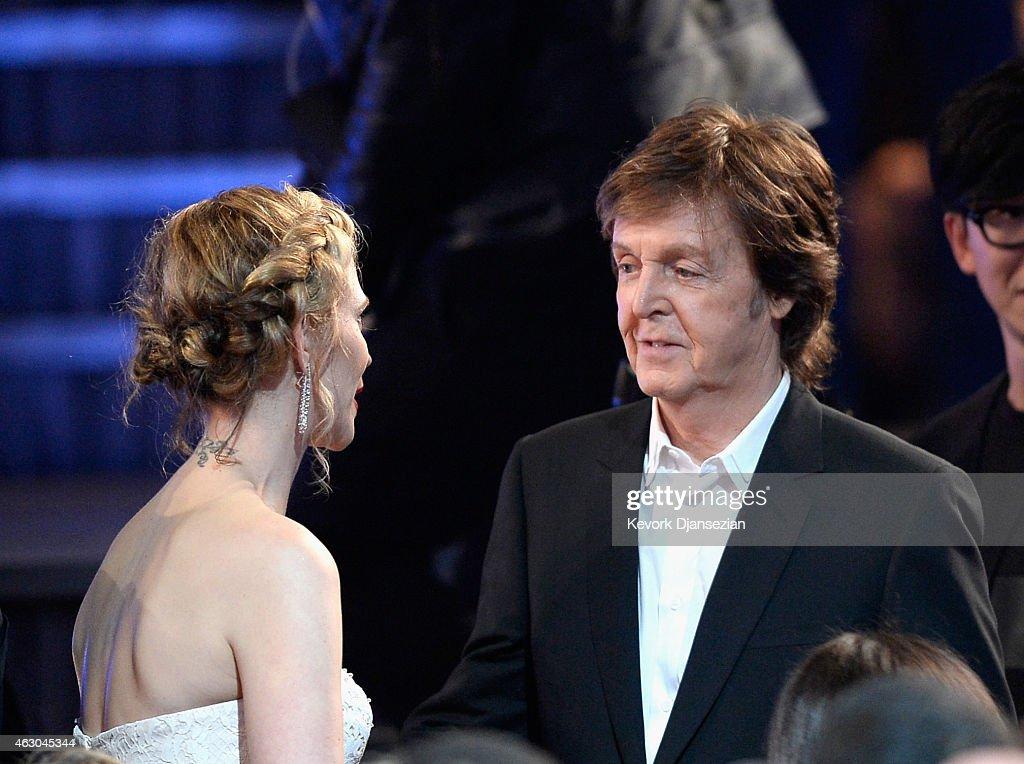 Jordyn Blum and musician Paul McCartney attend The 57th Annual GRAMMY Awards at the at the STAPLES Center on February 8, 2015 in Los Angeles, California.