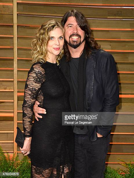 Jordyn Blum and recording artist David Grohl attends the 2014 Vanity Fair Oscar Party hosted by Graydon Carter on March 2 2014 in West Hollywood...