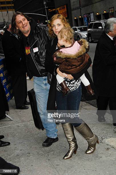 Jordyn Blum wife of Foo Fighters member Dave Grohl and his daughter Violet Maye attend the Late Show With David Letterman taping at the Ed Sullivan...