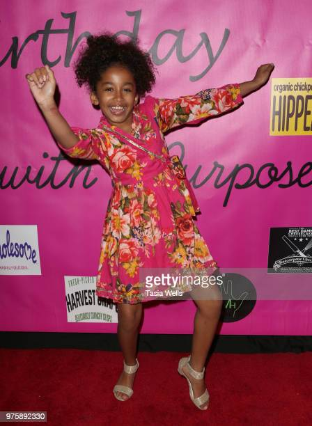Jordyn Curet attends Jillian Estell's red carpet birthday party with a purpose benefitting The Celiac Disease Foundation on June 15 2018 in Los...