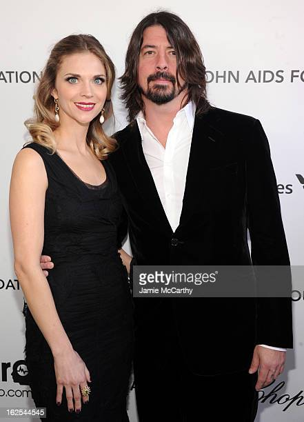 Jordyn Grohl and musician Dave Grohl attend the 21st Annual Elton John AIDS Foundation Academy Awards Viewing Party at West Hollywood Park on...