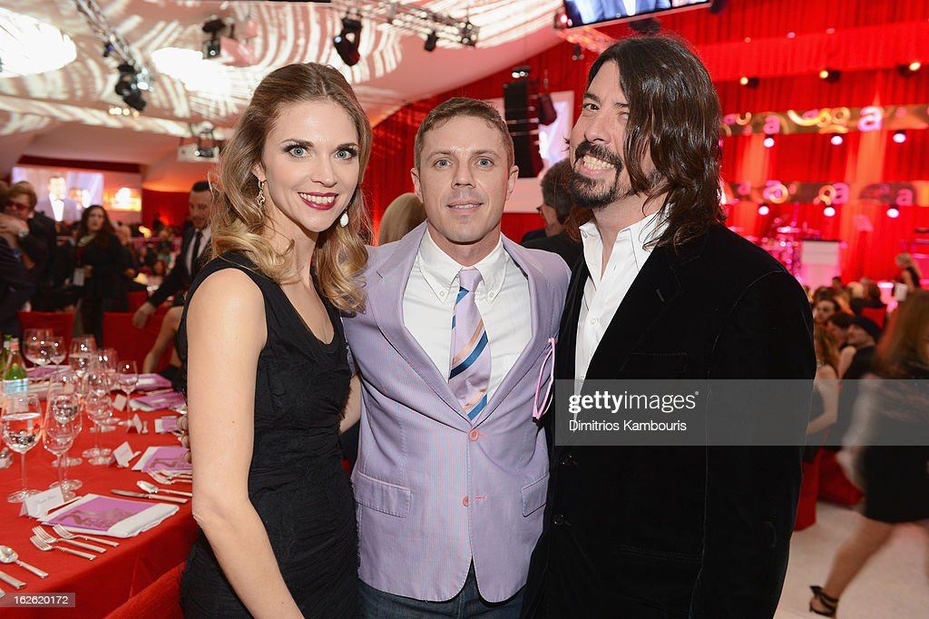 Jordyn Grohl, singer Jake Shears of Scissor Sisters and musician Dave Grohl attend the 21st Annual Elton John AIDS Foundation Academy Awards Viewing Party at West Hollywood Park on February 24, 2013 in West Hollywood, California.